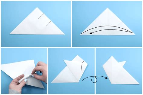 Origami Snowflake - how to make an origami snowflake