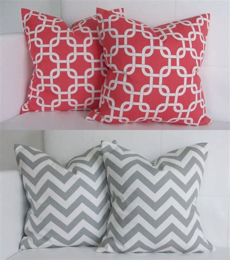 Coral Pillows Decorative by Coral Decorative Pillows Coral And Gray Decorative