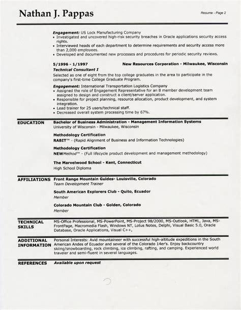 Sample Resume Headings   Sample Resume