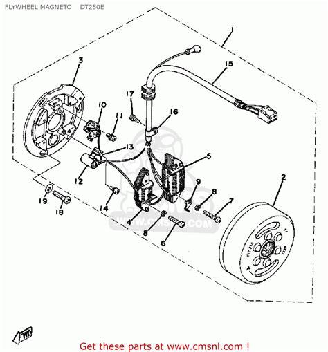 1979 yamaha dt250 wiring diagram wiring diagram schemes