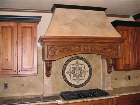 wooden scrolls for cabinets rwm inc range hoods noncombustible customizeable