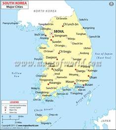map with all cities and towns cities in south korea map of south korea cities