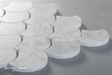 marbre blanc poli mosa 239 que en forme d 233 ventail d 233 coratif