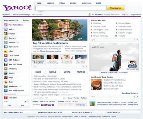 Yahoo Email Search Engine Yahoo Gives A Sneak Peek At Its New Home Page