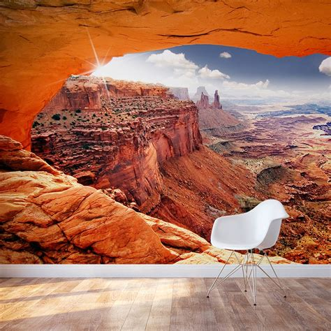 Wall Murals Tropical cave view monument valley wall mural