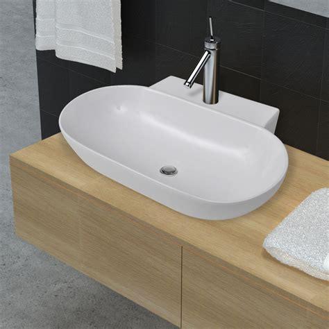 hole in bathroom sink vidaxl co uk bathroom ceramic sink art basin faucet hole