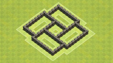 layout coc town hall level 4 clash of clans town hall 4 defense coc th4 best farming