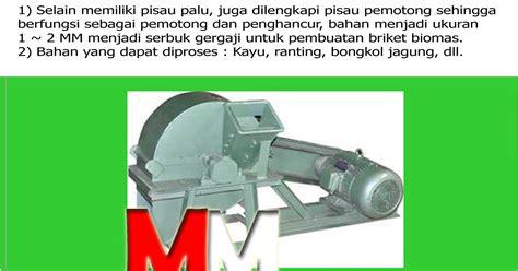 mesin pemotong penghancur wood crusher margosari mesin