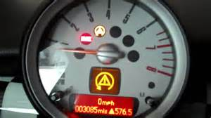 Warning Lights On Mini Cooper Mini Cooper Dsc On Or Setting