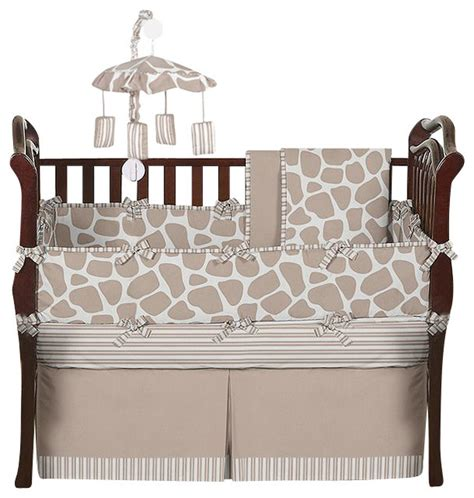 Giraffe Print Crib Sheets by Giraffe 9 Baby Crib Bedding Set By Sweet Jojo