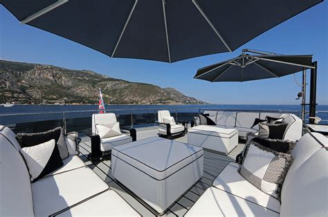 yacht upper deck motor yacht okto upper deck outdoor lounging area