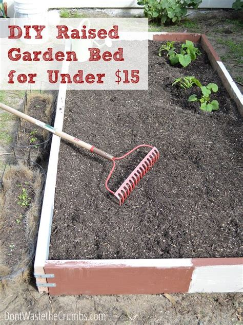 How To Build A Raised Garden Bed For Under 15 Gardens Inexpensive Raised Garden Bed Ideas