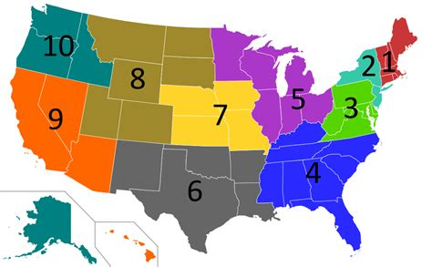 map of the united states regions file regions of the united states epa svg wikimedia commons