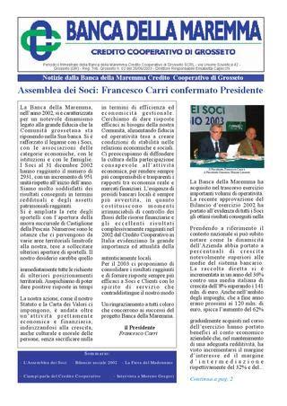 di credito cooperativo della maremma 1 2003 notizie dalla della maremma by tema