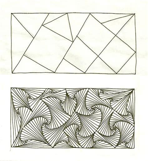 zentangle triangle pattern pin by kirsten dingemans heijlaerts on zentangle