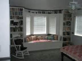 Curved Bookcase Bay Window Seat And Bookshelves Would Want Mine With More