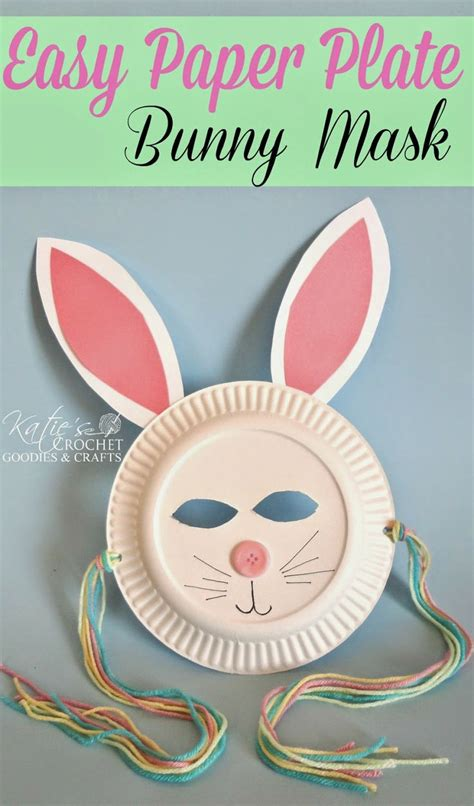 Easter Bunny Paper Plate Craft - easy paper plate bunny craft