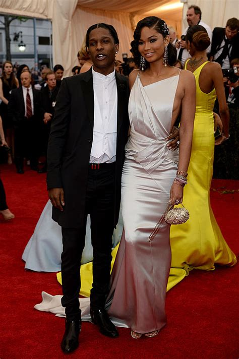 chanel iman on asap rocky beyonce kanye west and more bring glamor to 2014 met ball