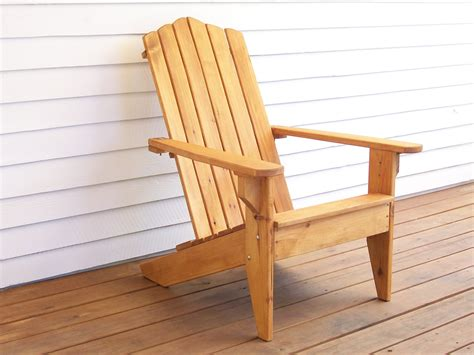 Outdoor Wood Chair Adirondack Furniture Outdoor By Wooden Patio Chair