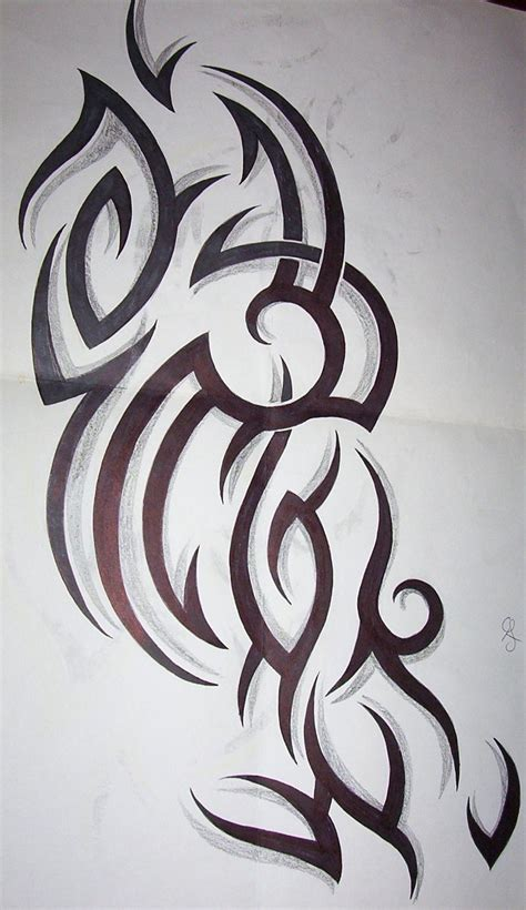 tribal design by tattoosuzette on deviantart