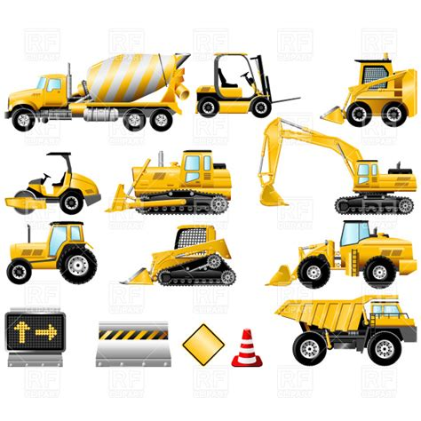 clip art of a tractor with digger clipart clipart suggest
