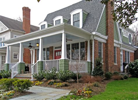 craftsman style porch urban bungalow craftsman porch dc metro by craver