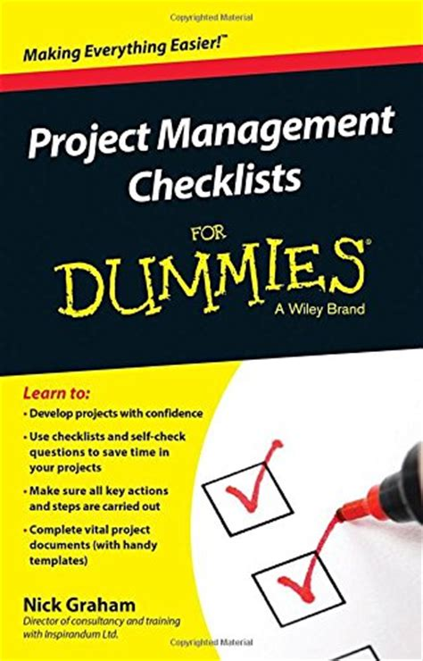 for dummies template project management checklists for dummies software digital