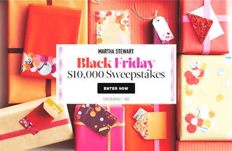 Black Friday Sweepstakes - www marthastewart com blackfridaysweeps martha stewart black friday sweepstakes
