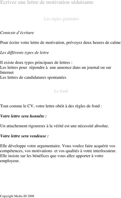 Www Lettre De Motivation Vendeuse Ecrire Une Lettre De Motivation Seduisante Audio Books