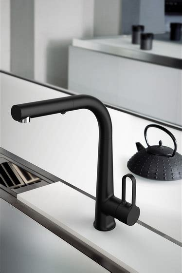 rubinetti carlo frattini black kitchen taps from fima carlo frattini