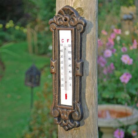 Wall Decorative Outdoor Thermometer Landscaping Garden Wall Thermometer