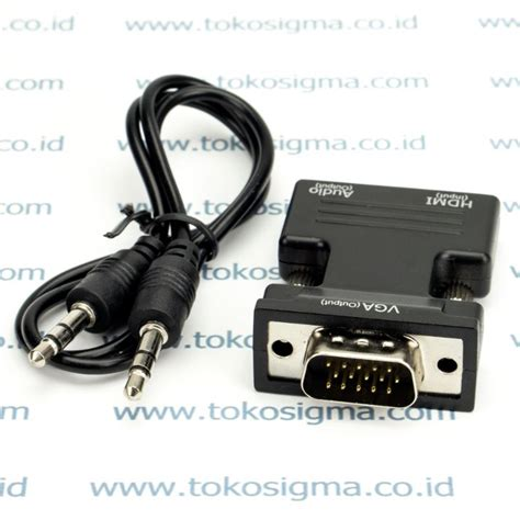 Hdmi F To Vga F With Audio Dongle Convertergold Plate High Quality hdmi f to vga m with audio dongle converter toko sigma