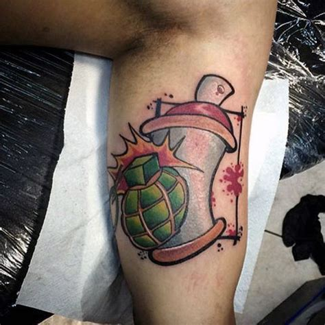 spray paint can tattoo designs 80 graffiti tattoos for inked designs