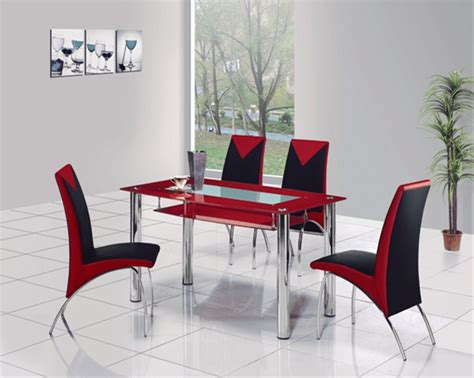 Glass Dining Room Table Sets by Rimini Glass Dining Table Glass Dining Table And Chairs