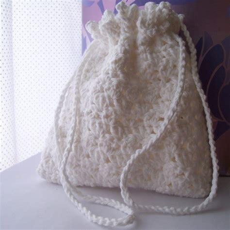 crochet pattern for bridal bag lacy white drawstring purse bride crochet bridal bag