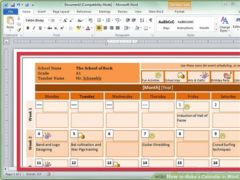 how to make a calendar on microsoft word brilliant ideas of how to make a calendar template on