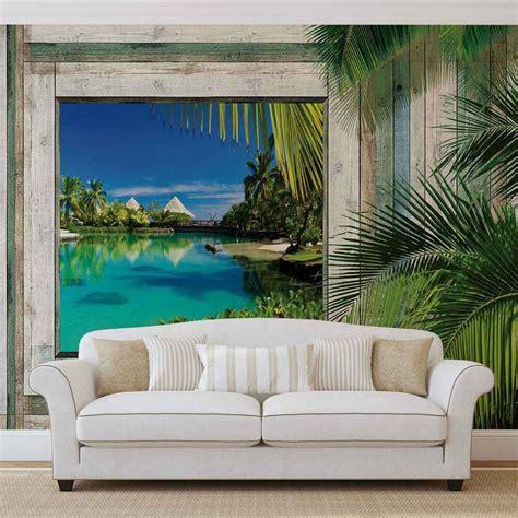 wall mural photo wallpaper xxl beach tropical view ws