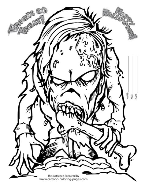 Scary Halloween Coloring Pages Scary Coloring Pages