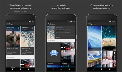 google wallpaper today google releases wallpapers app into the play store phonedog
