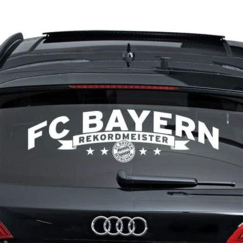 Bayern Aufkleber F R Auto by Autoaufkleber Fc Bayern M 252 Nchen Rekordmeister 1 Tlg