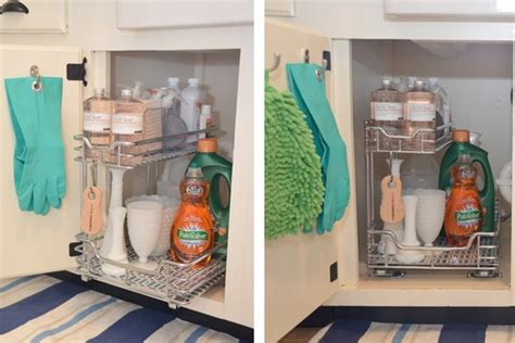 under kitchen sink storage ideas clever solutions for under kitchen sink storage