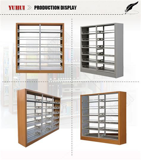 Rak Buku Perpustakaan Stainless Steel Book Rack high quality 6 tier steel bookshelf iron bookshelf
