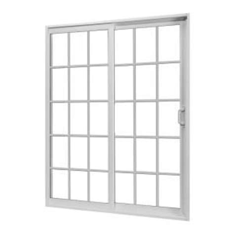 home depot 72 in x 80 in white right sliding patio