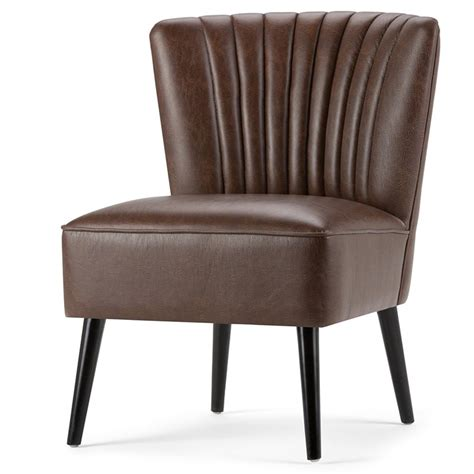 Brown Accent Chair Accent Chair In Distressed Brown Axcchr 017