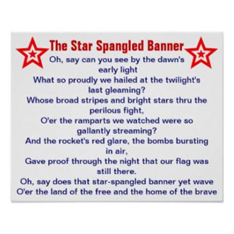 printable lyrics national anthem national anthem learning activity