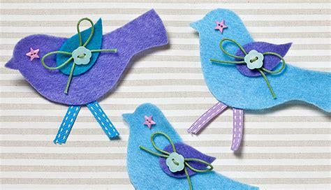 card making template how to make felt bird brooches hobbycraft blog
