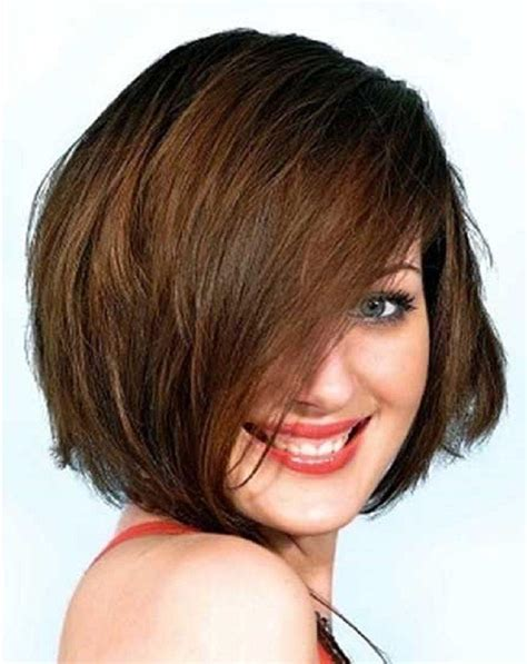 double bob haircut pictures of short hairstyles for fat faces and double