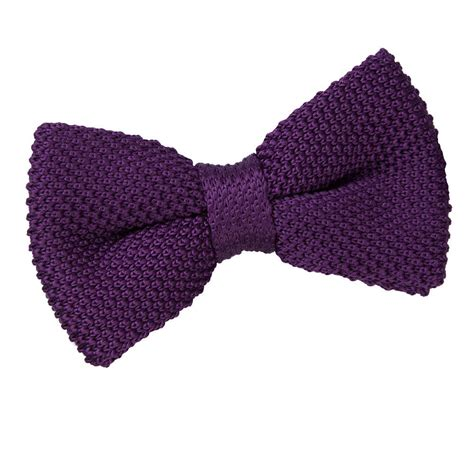 Knit Bow Tie s knitted cadbury purple bow tie