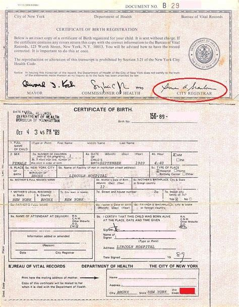 Ny Birth Records Birth Certificate Baby Form Security Size Birth