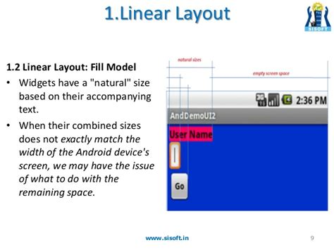 android layout width fill remaining space android screen containers layouts